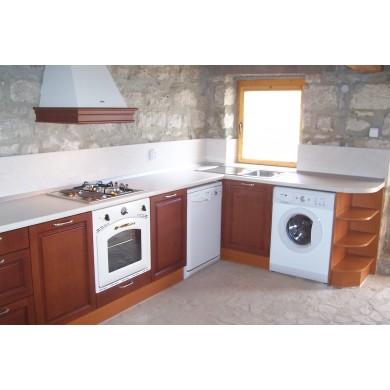 Ъглова кухня MDF фурнир 1