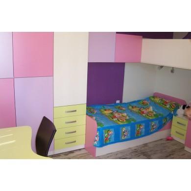 Розово-лилаво детско обзавеждане