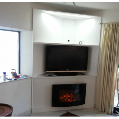 TV and fireplace corner unit